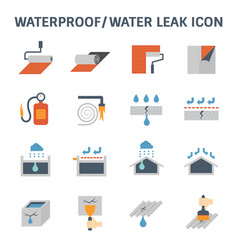 Waterproofing icon vector