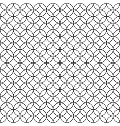 Wired Fence Black Ring Cage on White Background vector image