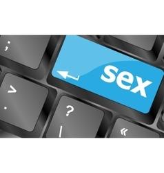 Sex button on laptop keyboard keys keyboard keys vector