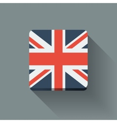 Button with flag of the uk vector