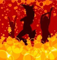 Dancing women vector
