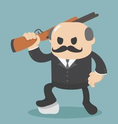 big boss Businessman holding a gun vector image