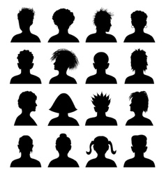 16 anonymous mugshots vector