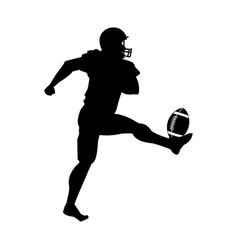 American football player uniform helmet ball vector