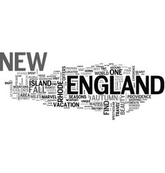 Autumn in new england text word cloud concept vector