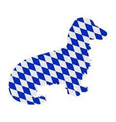 Bavarian longhaired badger vector