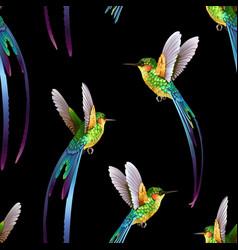 beautiful seamless exotic jungle pattern vector image vector image