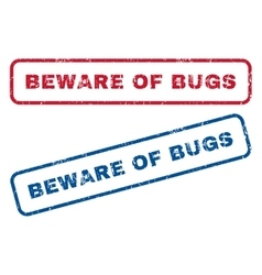 Beware of bugs rubber stamps vector