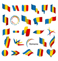 Biggest collection of flags of romania vector