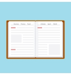 Book or journal in flat style vector