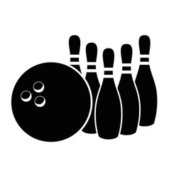 bowling sport game vector image