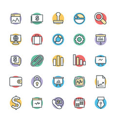 Business Cool Icons 1 vector image vector image