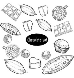 chocolate set of hand drawing vector image