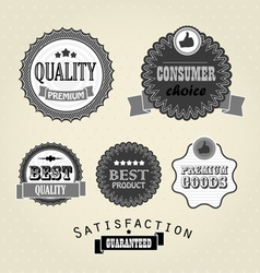 Discount labels set vector image