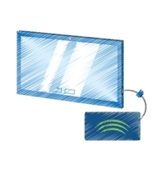 Drawing tablet connection technology mobile cable vector