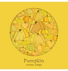 Golden autumn background with circle design vector