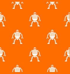 Humanoid robot pattern seamless vector