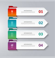 infographic arrows 4 options steps parts vector image