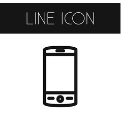 isolated cellphone outline touchscreen vector image