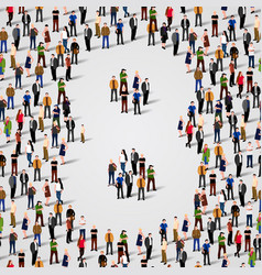 large group of people in number 8 eight form vector image vector image