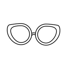 Line glasses to use in the eyes vector