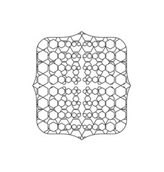 Line quadrate with creative graphic seamless vector