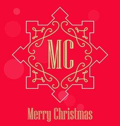Modern Christmas festive Card monograms style vector image vector image