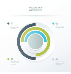 Pie chart infographics green blue gray color vector