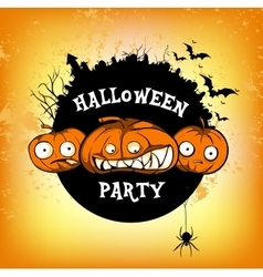 poster halloven party vector image vector image