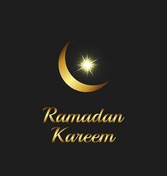 Ramadan Kareem background islam symbol golden moon vector image