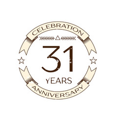 realistic thirty one years anniversary celebration vector image
