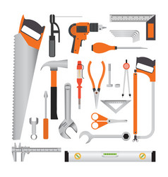 Repair and construction working tools isolated on vector