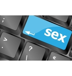 Sex button on laptop keyboard keys keyboard keys vector