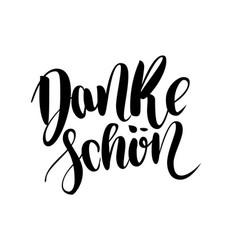 Thank you danke schoen german language balck vector