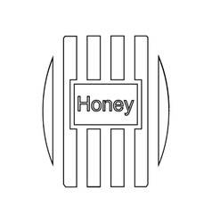 Wooden honey keg icon outline style vector image