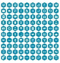 100 interface icons sapphirine violet vector