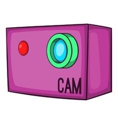 Action video digital camera icon cartoon style vector