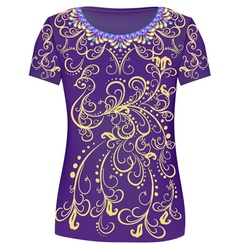 Design t-shirts print a fashionable ornament vector