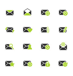 mail and envelope icon set vector image