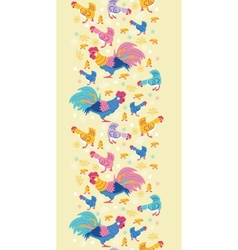Fun chickens vertical seamless pattern background vector
