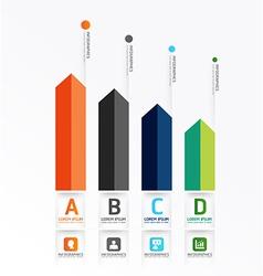 Modern Design Minimal style infographic vector image