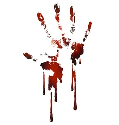 bloody handprint vector image