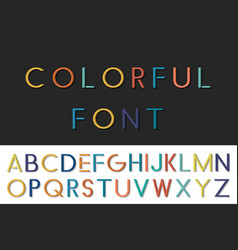 Colorful funny font english alphabet vector