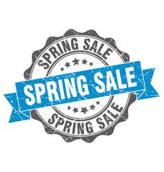 Spring sale stamp sign seal vector