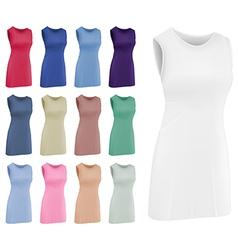 Plain women netball dress template vector image