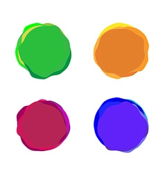 Set of color paint blobs for banners or badges use vector
