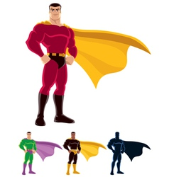 superhero vector image