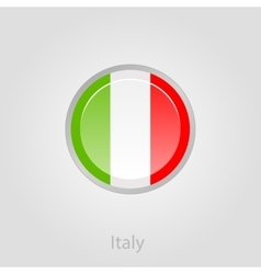 Italy flag button vector