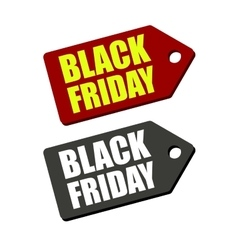 Black friday sales tag set vector