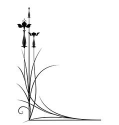 stylized fuchsia vector image